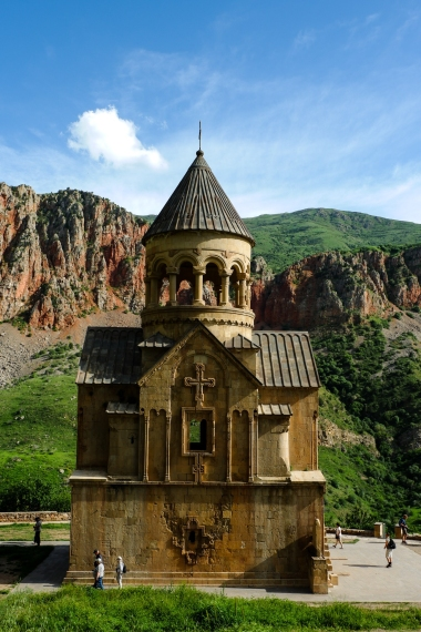 Noravank Monastery set among the rugged cliffs.
