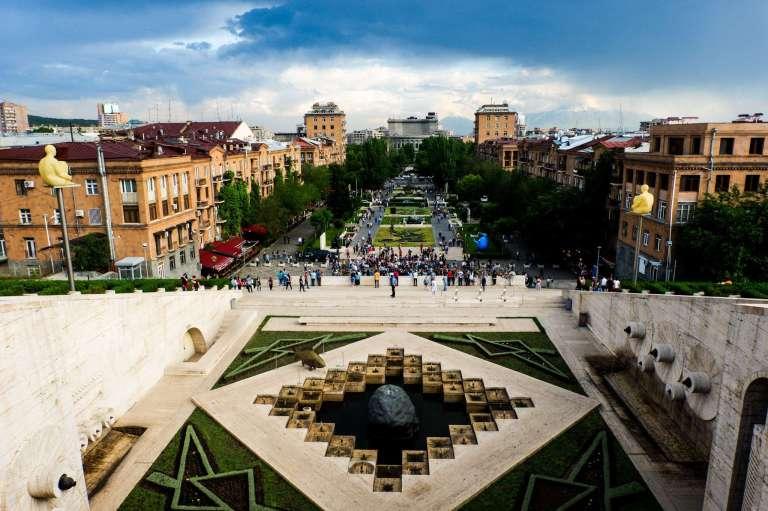 Cascade Art Complex in Yerevan Armenia