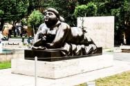 Nude woman sculpture in Cascade, Yerevan
