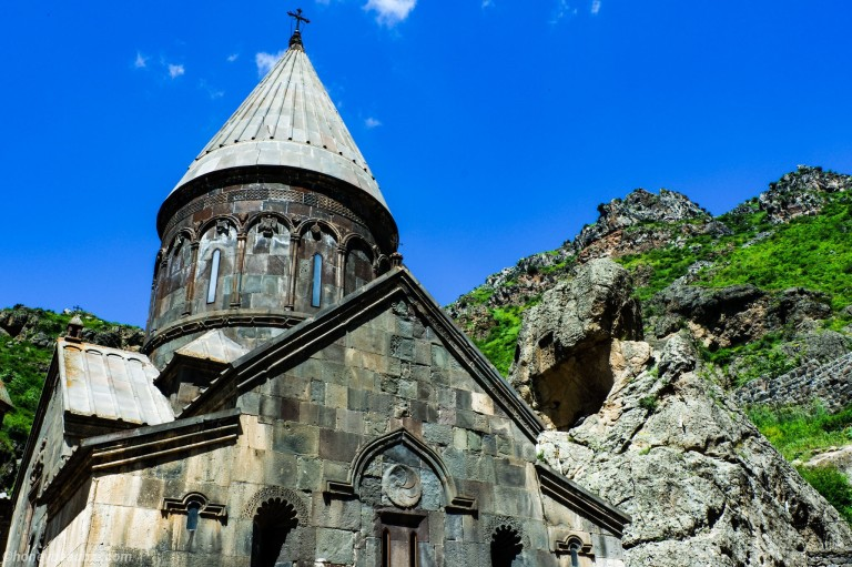 The 13th century Geghard Monastery is a UNESCO Heritage Site.