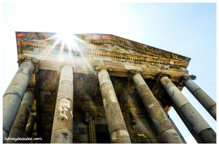 Temple of Garni is a pagan temple built to worship sun goddess Mythra